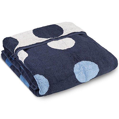 Point Saunatuch / Badetuch | viele Farben wählbar | 80 x 200 cm Baumwolle Frottee Handtuch | aqua-textil 0010681 dunkel-blau -