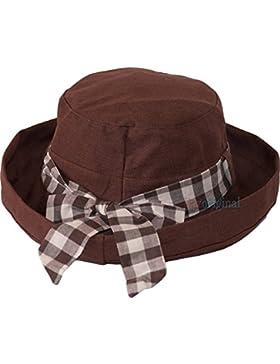 Dazoriginal Pamelas para Mujer Verano del Sombrero Plegable Amplio para Mujeres Boina para mujer Sombreros de...