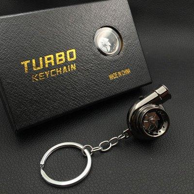 XiaoGao_ Creativo Llavero LED Llavero de Turbo