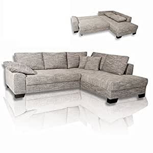 ROLLER Ecksofa Empire - grau - Liegefunktion, grau: Amazon