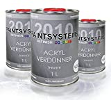 Acrylverdünnung, 3 x 1Liter