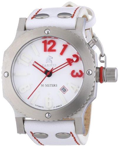 Carucci Watches CA2210SL-RD - Reloj de pulsera unisex, piel