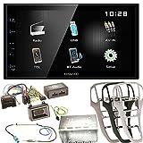 Kenwood DMX-110BT Bluetooth Moniceiver iPod iPhone USB MP3 Autoradio Einbauset für Opel Astra J