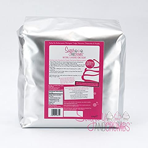 Raspberry Ripple Natural Flavoured Icing Sugar for Cakes and Bakes