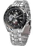 AMPM24 Reloj analógico de cuarzo para hombre con correa de acero inoxidable CUR021