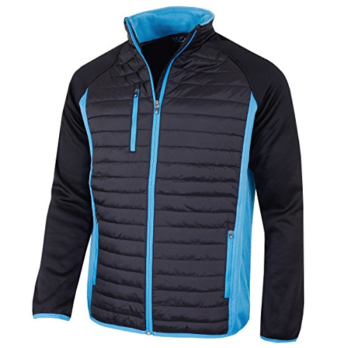Sunderland Of Scotland Mens Vermont Padded Jacket – Black/Azure Blue – M