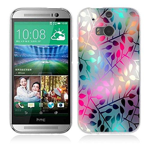 Fubaoda HTC One M8 / M8S Hülle [Lichtdurchlässiges Glas] Kratzfeste Plating TPU Case für HTC One M8 / M8S Case Schutzhülle Silikon Crystal Case Durchsichtig für HTC One M8 / M8S