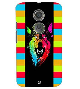 PrintDhaba Abstract Image D-5048 Back Case Cover for MOTOROLA MOTO X2 (Multi-Coloured)