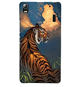Citydreamz Tiger\Animal\Wild\Jungle Hard Polycarbonate Designer Back Case Cover For Lenovo K3 Note/A7000