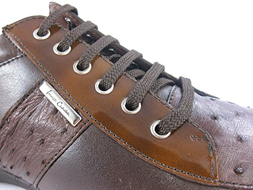 Franco Cuadra Calf and Ostrich Leather Shoes for Men Kango Tabac