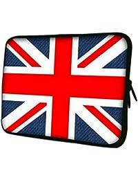 Y-BOA - Sacoche/Housse/Pochette iPad/ Tablette Sleeve- Anglais Drapeau -290*230*20mm- Néoprène - Apple Samsung