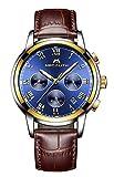 Montre Homme Montres Bracelet de Sport Etanche Chronographe Lumineuses Montre de Luxe...