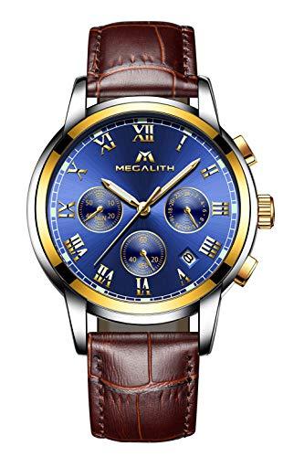 Herren Uhren Manner Wasserdicht Chronograph Designer Sport Leuchtende Armbanduhr Mann Business Mode Leder Analog Quarzwerk Uhr -