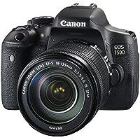Canon EOS 750D - Fotocamera Reflex Digitale + Obiettivo EF-S 18-135mm F/3,5-5,6 IS STM - Nero