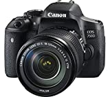 Canon EOS 750D SLR-Digitalkamera (24 Megapixel, 7,7 cm (3,0 Zoll) Display, Full-HD, APS-C CMOS-Sensor, WiFi, NFC) Kit inkl. EF-S 18-135 mm is STM Objektiv schwarz