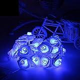 CODIIN 20 LED à piles Rose Fairy Lights Mariage Garden Party Décoration De Noël De Guirlande Lumineuse - Bleu Foncé1