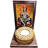 YaYa Cafe Pooja Puja Divine Lord Hanuman Idol Statue Blessings Tealight Candle Holder Set Of 1 T-lite Candles For Home | Corporate Gifts For Office, Employees, Clients, Staff