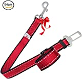 PetsLovers Durable Dog Seatbelt | Heavy Duty Strap | Reflective Lines | 2 Adjustable Sizes (38-63cm or 55-94cm)