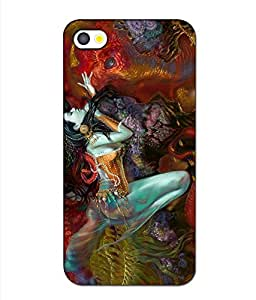 Crazymonk Premium Digital Printed 3D Back Cover For Apple I Phone 4