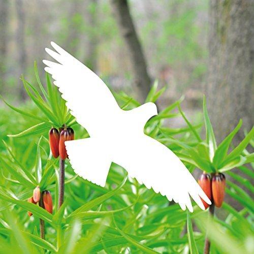 5 Stück 20cm weiß Vogel Aufkleber die cut Tattoo Warnvögel Fenster Schutz Deko Folie -