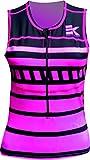 Triathlon Women Kompressions-TOP EKEKO, ärmellos, Front-RV und 2offenen Taschen im Rücken, Flache Nähte.UV50+. Atmungsaktiv, es leitet den Schweiß gut ab. Zweite Hautanpassung. Mehlrosa/schwarz S