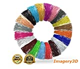 #5: Imagery3D PLA Filaments 1.75mm, 20 Color Rolls 10M each Total 200M Multiple Colors Starter Kit 3D Pen Printing Material