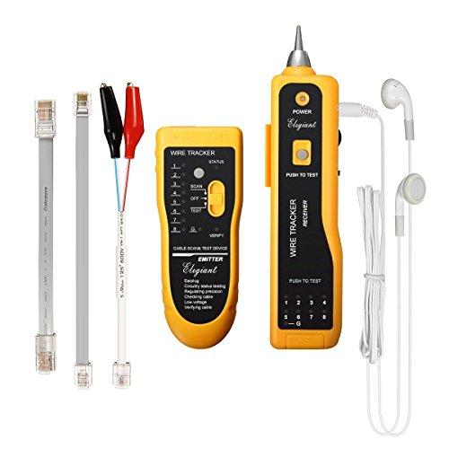 elegiant LAN Ethernet Netzwerk Kabel Tester Detektor Line Finder Telefon Draht Tracker RJ11/RJ45CAT5/CAT6Tester Diagnose Tool Kit