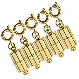 B Baosity 5pcs Cierres Magnéticos de Langosta 4mm Sujeción para Cadena de Collares Joyerías Accesorios - Oro