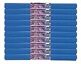 Krepppapier 60024 - 10 Rollen, je ca. 50 x 250 cm, ultramarin