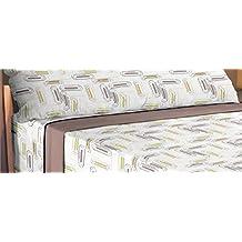 ForenTex - Juego de sabanas de 3 piezas, (FS-4032), cama 90 cm, máxima transpiración y frescura, estampadas, baratas, de microfibras, set de cama. 1-4 sábanas microfibra paga solo un envío, descuento equivalente al finalizar la compra.