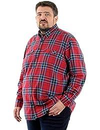 CASA Moda - Chemise écossaise - CASA Moda Grande Taille Homme - Rouge 94610149d0c3