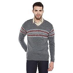 Duke Men Casual Sweater 1968078031 M.Grey Melange Coloured XX-Large