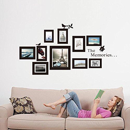 Amlaiworld 105 cm * 82cm rimovibile Foto Frame parete murale Sticker