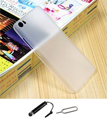 TCA 0.3mm Ultrathin Polycarbonate Frosted Matte Case for Xiaomi Mi4 - Clear + Mini Stylus & Eject Pin