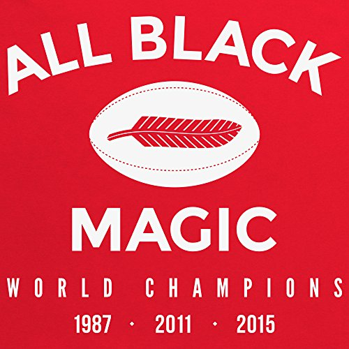 All Black Magic T-Shirt, Herren Rot