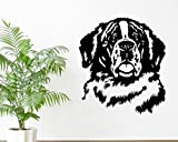 Freies Verschiffen St Bernard Hund 2016 Neue Hot Dog Wandtattoos 3D Vinyl Wandaufkleber Ausgangsdekor Innenwand Kunstwand Design 57X65 Cm