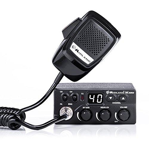 Midland CB Radio M Zero Plus Code C1169.01, schwarz Radio Antena M