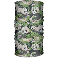 Bikofhd Seamless Scarf Panda Outdoor Multifunctional Headband,Womens and Mens Headscarves with UV Resistance, Face Mask Unisex13
