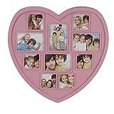 Bilderrahmen Herzform Fotorahmen Rahmen Bildergalerie Fotogalerie 42x42x2cm rosa