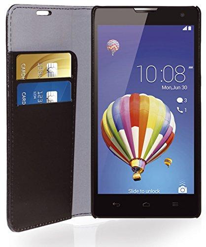 Phonix Öko-Lede Buch-Hülle für Huawei Honor 3C schwarz