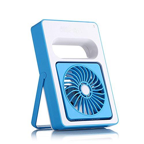 ventilatore portatile USB ventilatore ricaricabile piccolo ventilatore , blue