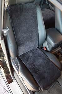 Autofell-Autositz-Auflage/Sitzaufleger aus Lammfell 30cm Breite Premium (Schiefer) Direkt vom Hersteller