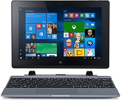 Acer One 10 (S1002-10HU) 25.65 cm (10,1 Zoll HD IPS) Convertible Notebook (Intel Atom Z3735F, 2GB RAM, 32GB eMMC, Intel HD Graphics, Touchscreen, Win 10 Home) grau