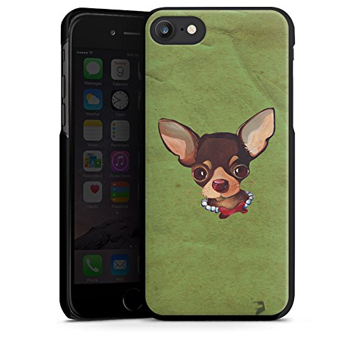 Apple iPhone X Silikon Hülle Case Schutzhülle Chihuahua Hund Dog Hard Case schwarz