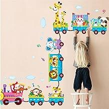 El Animal de la selva Zoo Animales Pegatinas de pared Mono Jirafa Elefante León Conejo Panda vinilos decorativos para Decorar Las habitaciones de los niños, cuarto de niños, bebé, Boys & Girls Dormitorio