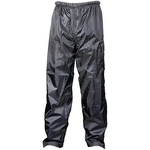 TURBOCAR - Pantaloni Antipioggia Scooter e Moto, Grigio, XL