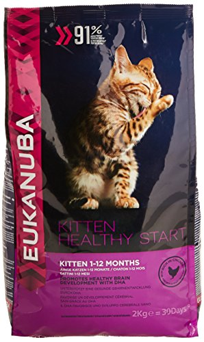 51BvUocrkKL - BEST PET STORE Eukanuba Dry Kitten Food Chicken Liver, 2 kg PRICE Review UK
