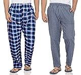 Fflirtygo Mens Cotton Pyjama Bottom, 100% Cotton Export Quality Fabric, (Pack of 2)