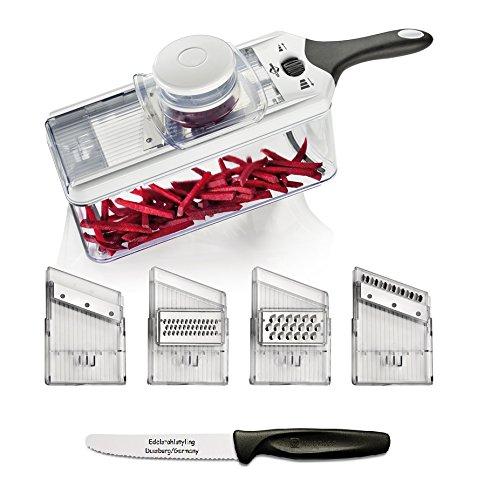 Küchenprofi Gemüsehobel Vario + Edelstahlstyling Universalmesser im Set