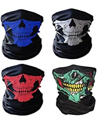 Tioamy Balaclavas Skull Mask Cycling Face Masks Breathable Seamless Half Face Tube Skeleton Masks for Motorcycle Outdoor Riding and for Hallowmas